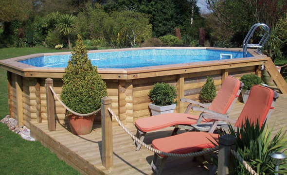 wooden swimming pools