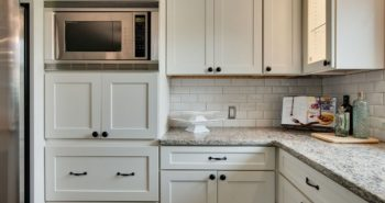 place microwave in kitchen