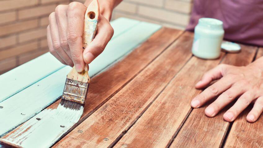 painting wooden furniture