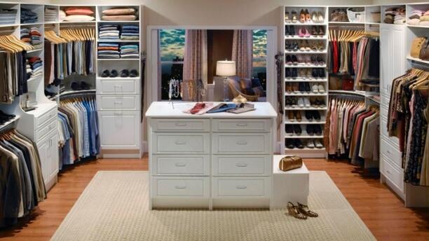 organizing dressing room