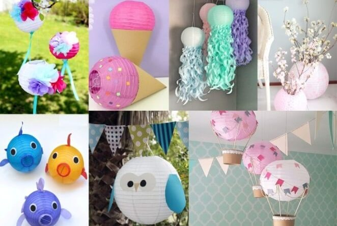 recycle paper lanterns