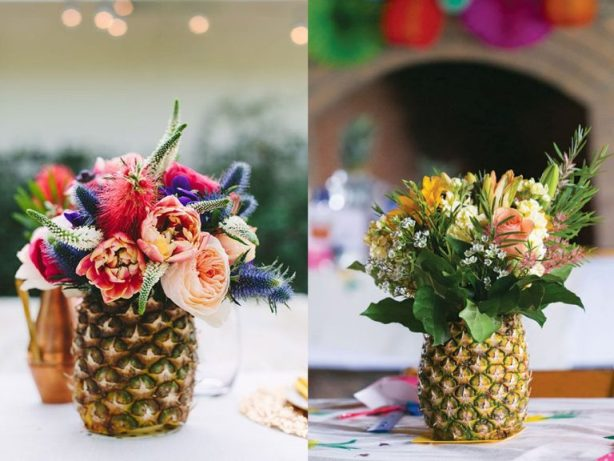 decoration with pineapples