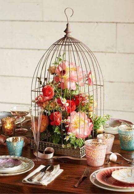 birdcages with flower