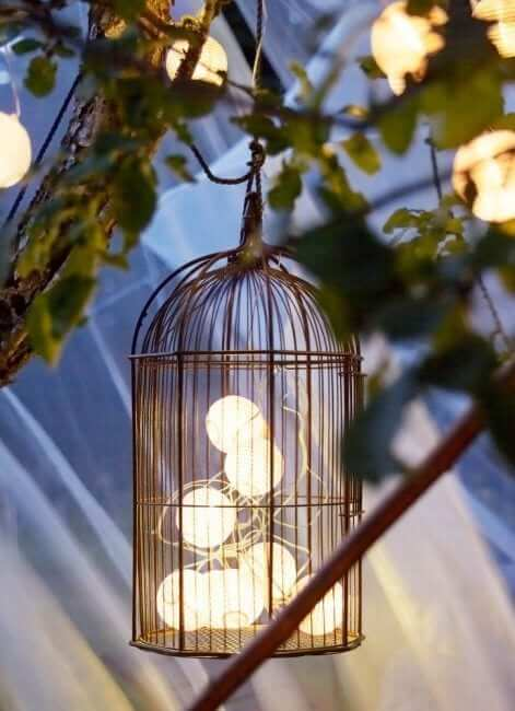 birdcages with light